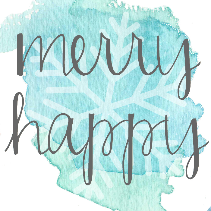Merry Happy - Free Printable from Bespoke