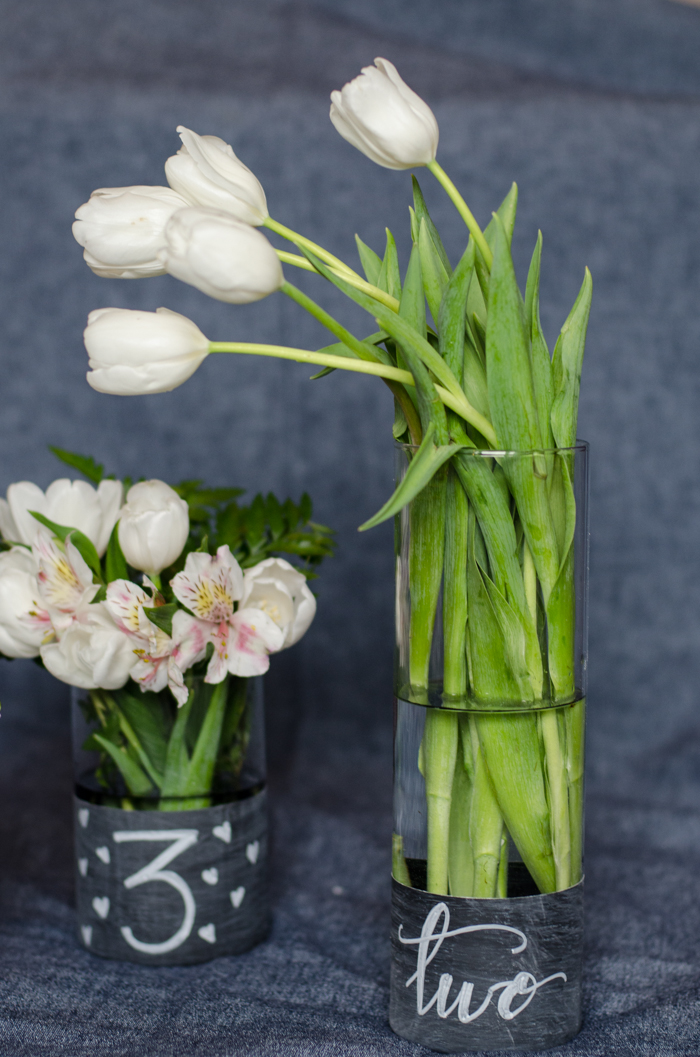 Diy Chalkboard Dipped Vases Bespoke Decor