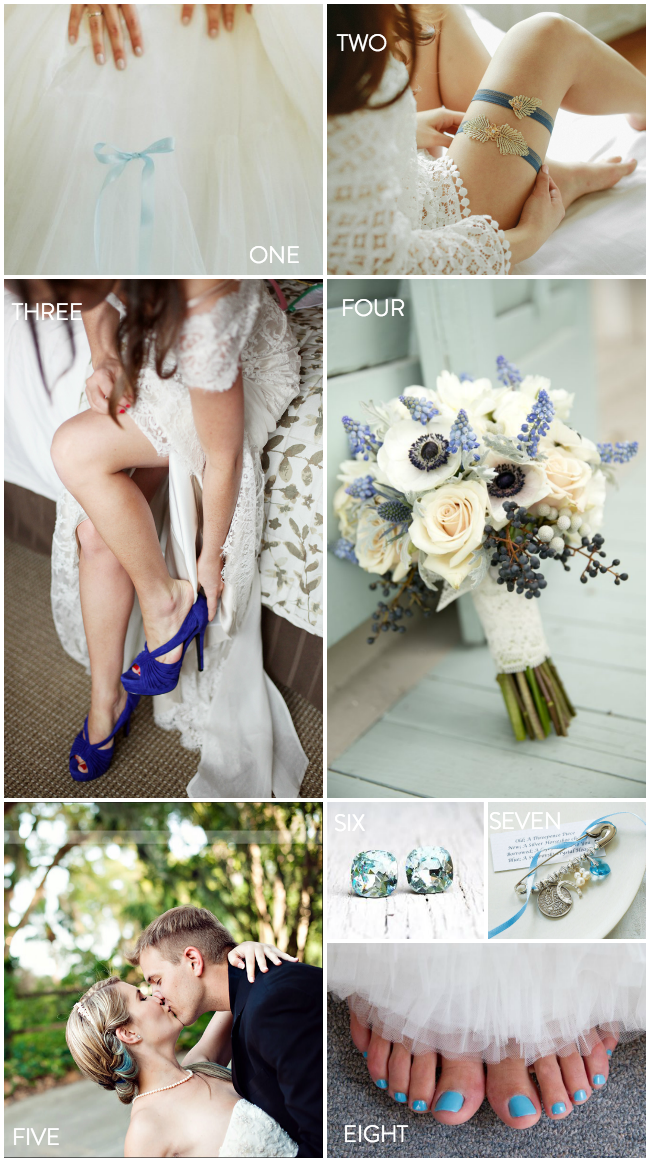 Something Blue- 8 beautiful ideas for your wedding day