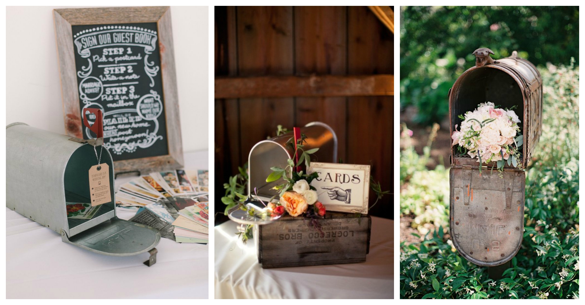 Our favourite ways to use vintage mailboxes at weddings