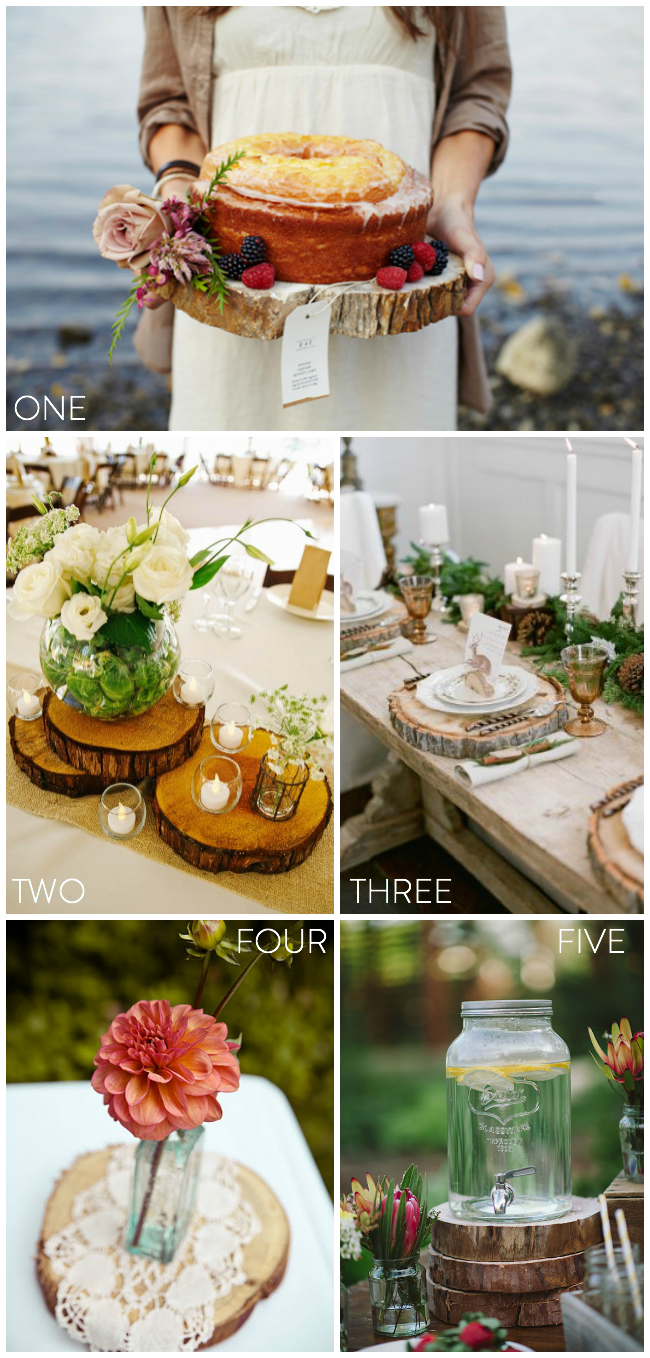 Our favourite ways to use wood rounds at weddings