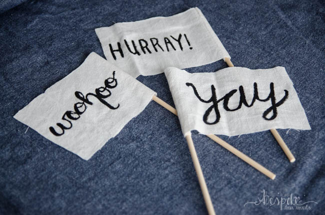 DIY Hurray! Celebration Flags for Wedding Recessionals