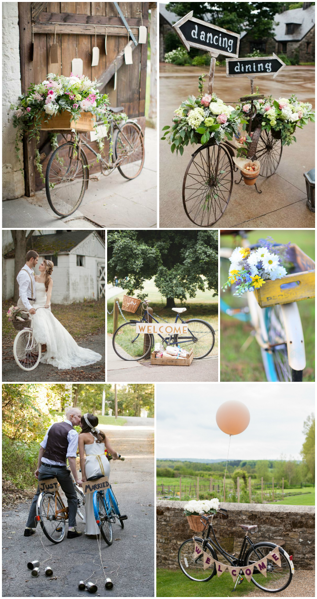 we love vintage bikes at weddings