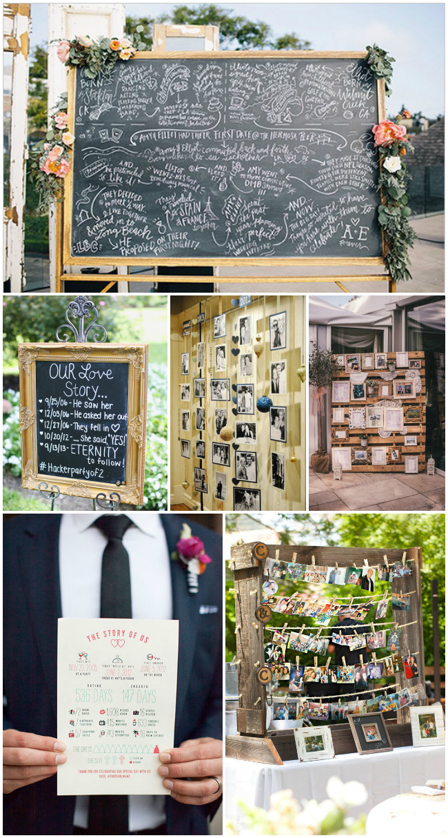 creative ways to display your love story at your wedding