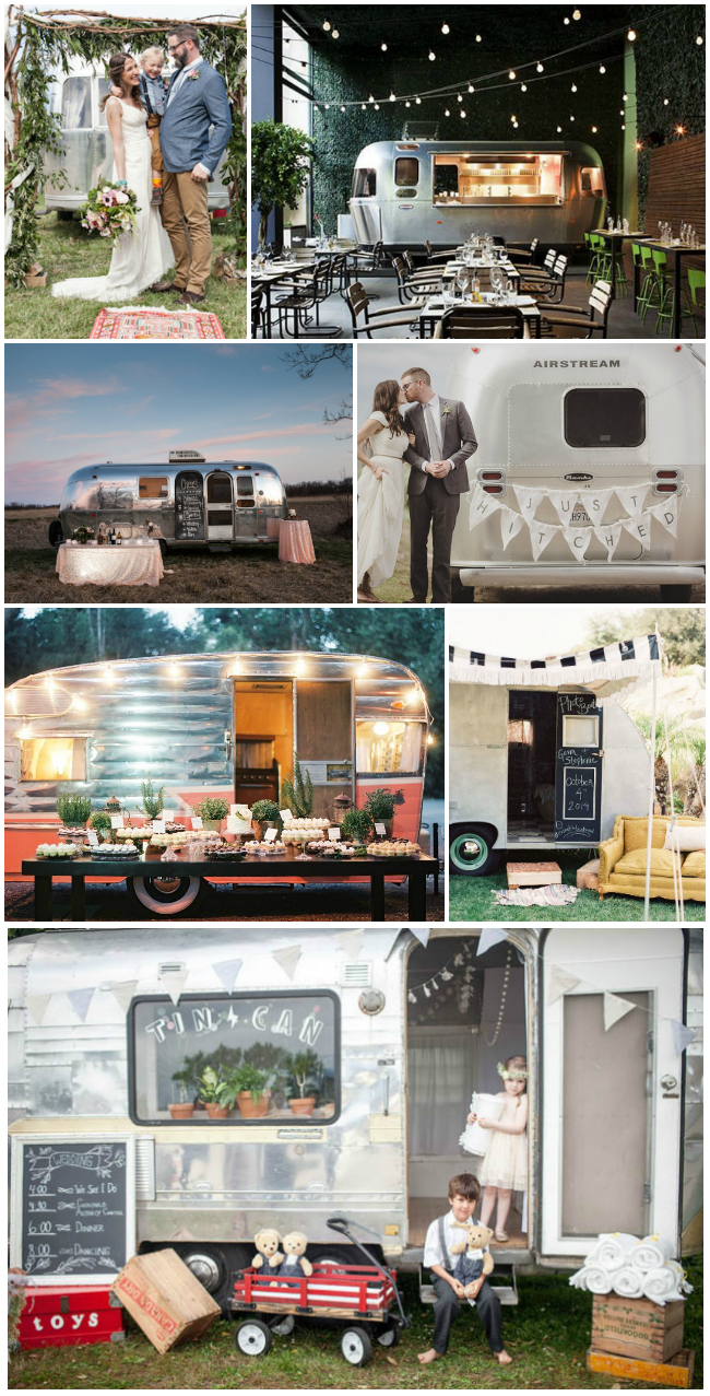 we love vintage campers at weddings!
