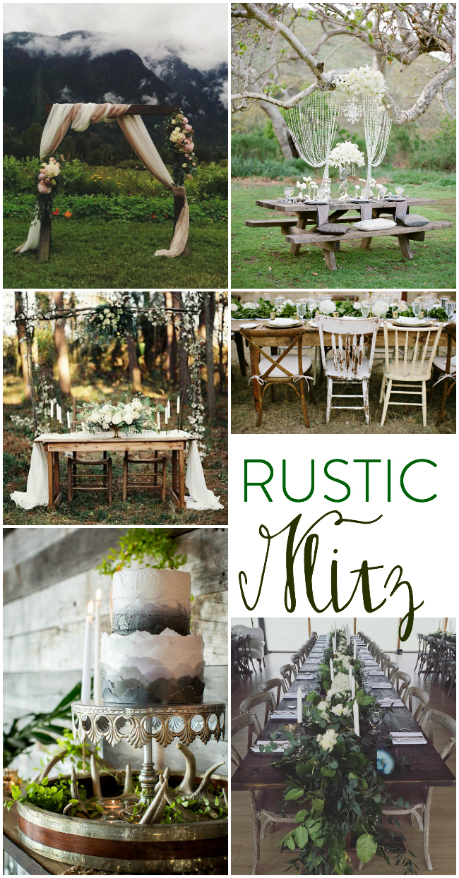 I LOVE this more refined rustic glitz look- so much better than the burlap and lace!