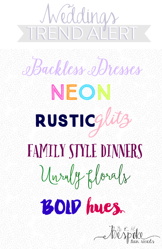 wedding trends 2016