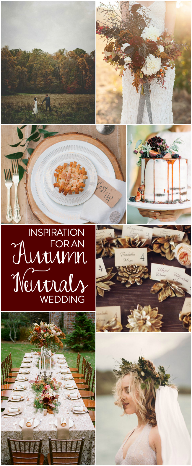 BESPOKEDECOR Inpsiration for an autumn neutrals wedding